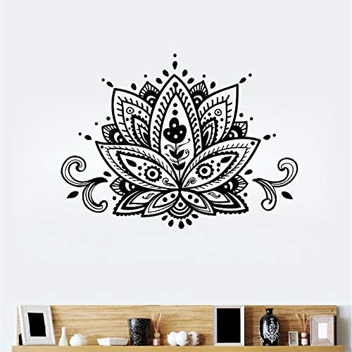 Uiewle Lotus Wall Sticker Yoga Wall Sticker Home Decoration Living Room Bedroom Decoration 57x80cm