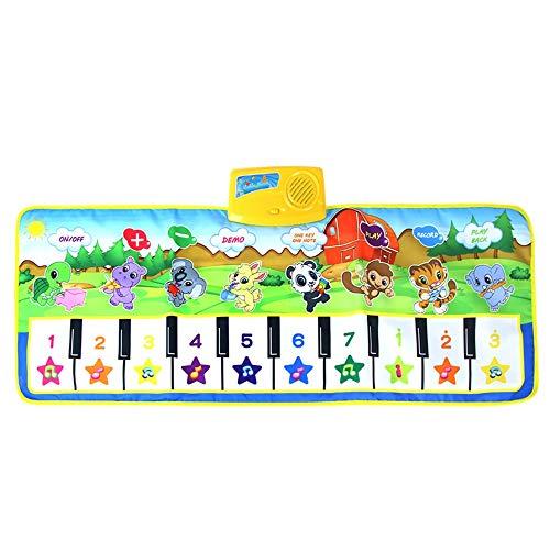 Coche de juguete RC Coche de juguete modelo LYXXC Bebé Piano Musical Manta Alfombra de danza de la música de la alfombra animal del juego del tacto regalo del cojín Educación Rompecabezas Música Manta