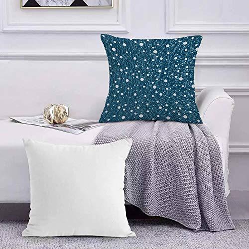 Ccstyle Moderne Dekorative Baumwolle Set Kissenbezug Navy Blue Bubble Round Dot, für Sofa Schlafzimmer Geeignet Kissen Cover Square Pillowcase
