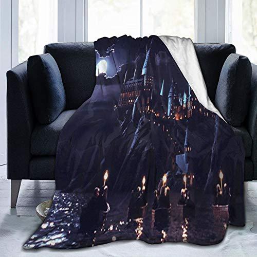Manta de piel de Harry Potter, 125 x 150 cm, cálida, cómoda, suave, linda manta, adecuada para sofá, silla y cama