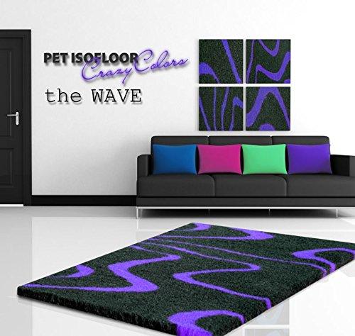 Pet Isofloor SX 150 x 100 cm Wave lila