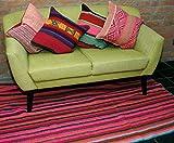 Alfombra tejida a mano – Fabricada en Perú.