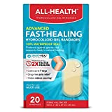 All Health All Health Advanced Fast Healing Hydrocolloid Gel Bandages, Regular 20 ct   2X Faster Healing for First Aid Blisters or Wound Care, 20 Count