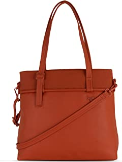 Baggit Spring-Summer 2021 Faux Leather Women's Tote Handbag (Red) (Formless)