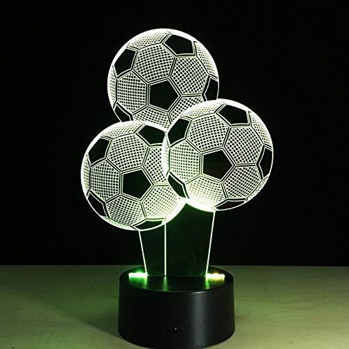 7 Farben, die Fußball Fußball Nachtlicht der Illusions 3D ändern Virtuelle helle Schreibtisch Fußball Lampen Weihnachtsgeschenke 3D