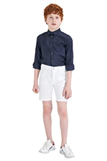 DeFacto Flower Pattern Roll-Up Long Sleeves Cotton Shirt for Boy