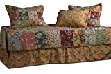 Greenland Home Antique Chic Daybed Quilt Set, 3'3 inches X 6'3 inches, Multicolor