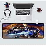二次元コンピューターゲームアニメーションマウスパッド超創造的王様肥厚テーブルマット-a_400x900mm