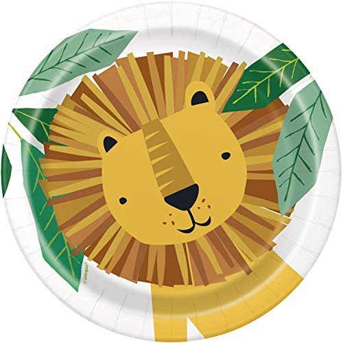 Paper Plates - 18cm - Animal Safari Party - Pack of 8