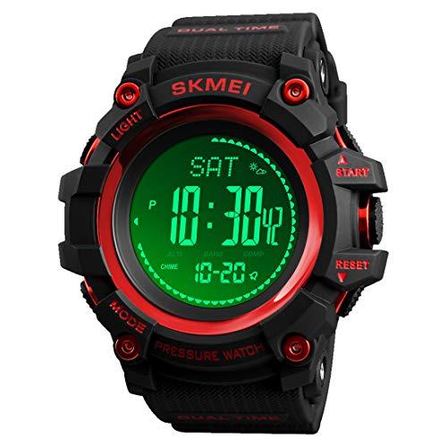 LB LIEBIG Compass Watch Army, Digital Outdoor Sports Watch