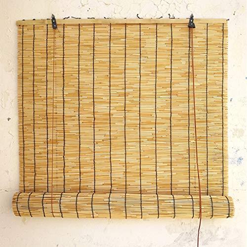 Persianas de Caña Cortina de Paja,Estores de Bambú,Estor Enrollable de Bambú Natural,,Lifting Decoration Roller Blind,Ecological Sunshade Partition Curtain,Tamaño Personalizable (60x90cm/24x36in)