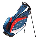 Izzo Golf Izzo Ultra-Lite Stand Golf Bag With Dual-Strap & Exclusive Features, Red/White/Blue