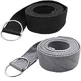 Tavie 2X Correa De Cinturón De Yoga para Ejercicio Físico Flexibilidad Ejercicio Estiramiento...