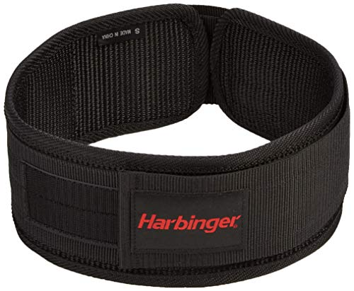 Harbinger 4-Inch Nylon Weightlifting Belt, Medium