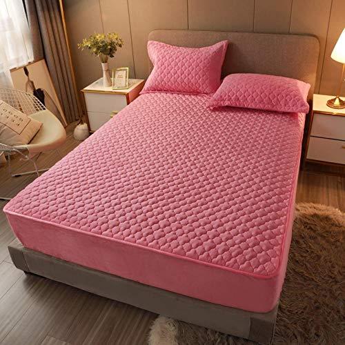 ChileYile Crystal Velvet Plus sábanas de algodón, Ropa de Cama Transpirable de Cama Gruesa para Dormitorio-JadeLos 200 * 220cm