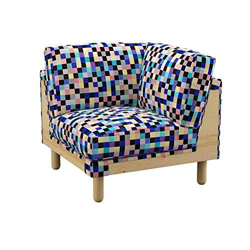 Soferia - IKEA NORSBORG Funda para módulo de Esquina, Mozaik Blue