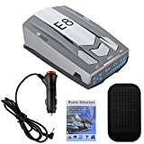Radar Detectors for Cars, Radar Detector Police Radar Detector Long Range Detection, Voice Alerts with Led Display, Gray