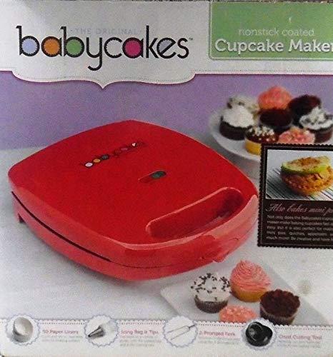 BABYCAKES Cupcake Maker CC-96RD non Stick coated
