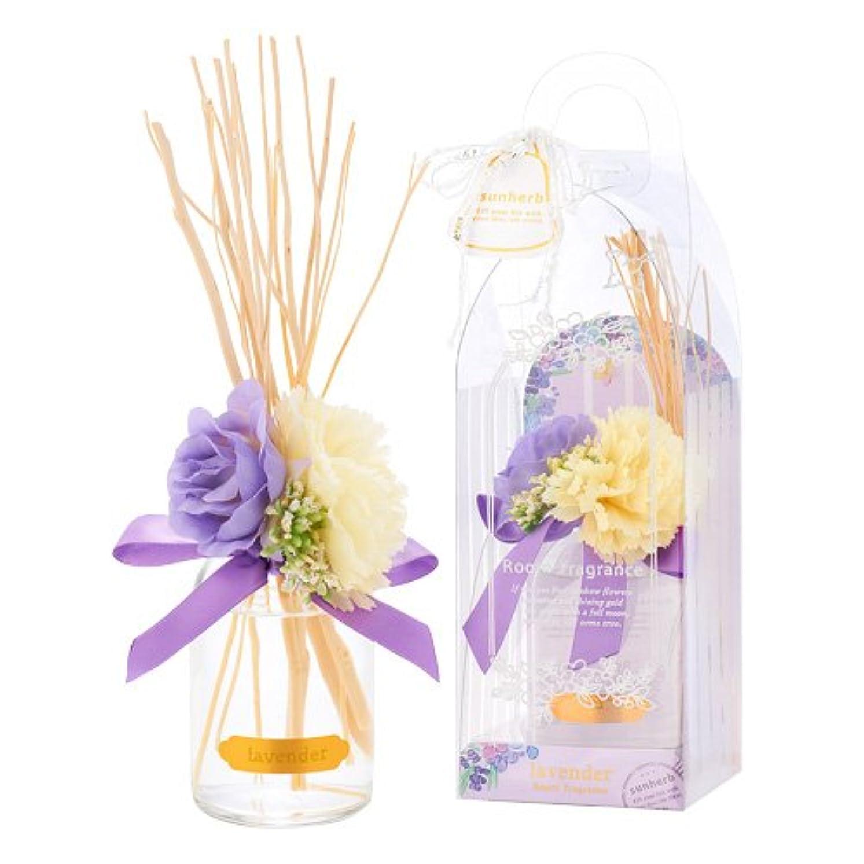 サンハーブ ルームフレグランスフラワー ラベンダー 100ml(芳香剤 花かざり付 ふわっと爽やかなラベンダーの香り)