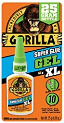 No run control gel formula; great for use on vertical surfaces Anti clog cap: keeps glue from drying out, its Gorilla tough use after use Impact tough: unique rubber particles increase impact resistance and strength Fast-setting: dries in 10-30 secon...