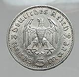 1936 DE 1936 Germany 2nd President Paul von Hindenburg AR coin Good
