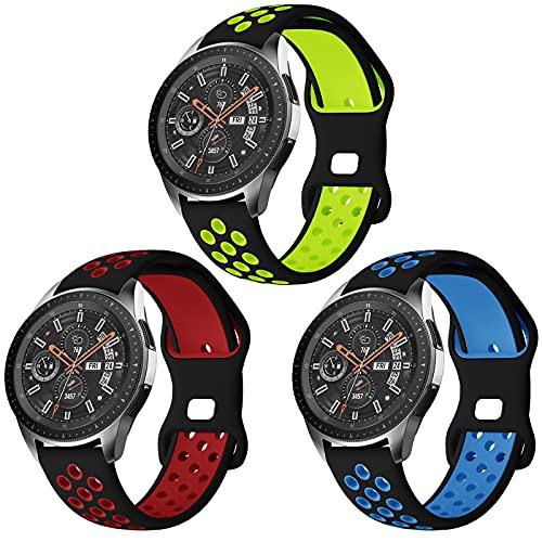 Syxinn Kompatibel mit Samsung Galaxy Watch 46mm Armband Gear S3 Frontier Classic Armband 22mm Armbänder Silikon Uhrenarmband Sportarmband für Galaxy Watch 3 45mm/Huawei Watch GT/GT 2e/GT 2 46mm