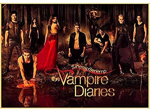 Vampire Diaries 5D Diamond Painting DIY con incrustaciones de punto de cruz Diamond Painting Set Craft Gift(11.8x15.8inch)