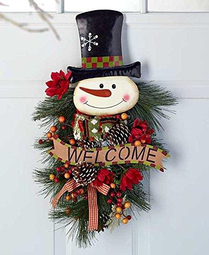 24' Festive Snowman Swags