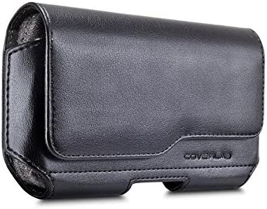 Galaxy S8 Plus Note 8 Belt Case, Leather Belt Clip Case Holster Pouch Sleeve Cell Phone Holder Compatible for Samsung Note 8 Galaxy S8 Plus (Fits with a Slim Hard Case Bumper Cover On) -