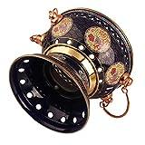 Hogar Freidoras Fondue Cacerolas De Inducción para Encimeras 18 Cm Cloisonne Esmalte Olla Protección del Medio Ambiente Olla Caliente De Metal Olla De Servicio Individual Comercial