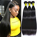 10A Human Hair Straight Bundles (26 28 30) Brazilian Straight Hair Bundles 100% Unprocessed Weave Hair Human Bundles