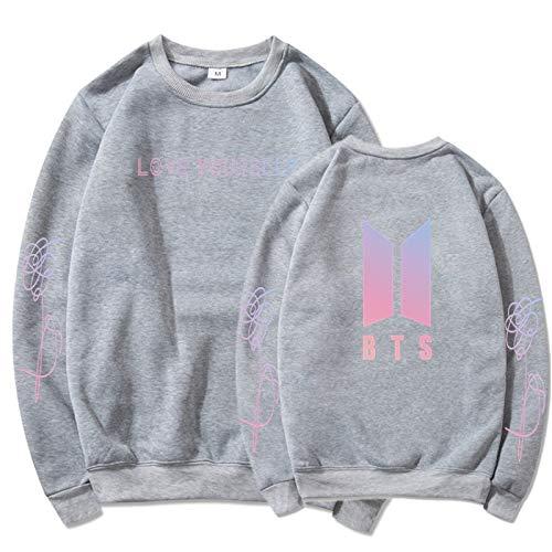 Kapuzenpullover Fã¼R Herren BTS Liebe Dich selbst Langarm Jumpers Street Fashion für K-Pop Bär Sweatshirt Hoodie Kind Unisex XL