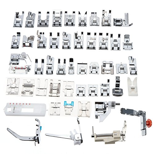 KingLan 48Pcs Nähmaschine Presser Fuß Füße Werkzeug Kit Set Mehrere Anwendung