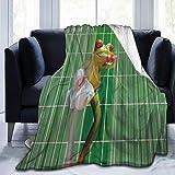 SURERUIM Soft Fleece Überwurfdecke,Cartoon Frosch Lustiger Badefrosch Zähneputzen Nettes Tier Für Kinder,Home Hotel Bed Couch Sofa Überwurfdecken für Paare Kinder Erwachsene,150x200cm