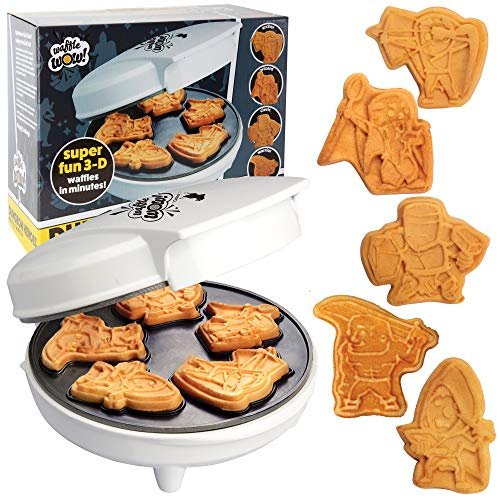 Dungeon Heroes Mini Waffle Maker- Eat your favorite Fantasy Characters and Make Breakfast Fun - Cool Novelty DnD-like Pancakes in Minutes -Electric Non-Stick Waffler, Great Gift
