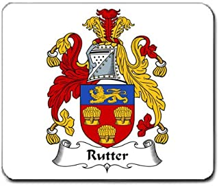 Rutter Family Crest Coat of Arms Mouse Pad