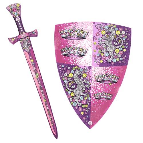 Liontouch 25210LT Jeu de Princesse en Cristal pour Filles | Jouet épée et Bouclier en Mousse
