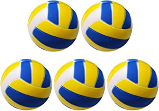 LIOOBO 5pcs Squeeze Balls Toy PU Volleyball Foam Soft Ball Hand Exercise Balls for Kids Football Themed Party Favor Pets T...