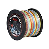 RUNCL Braided Fishing Line with 8 Strands, Fishing Line PE Material 1093Yds/1000M with Multiple Colors for Freshwater and Saltwater (1093Yds/1000M, 100LB(45.4kgs))