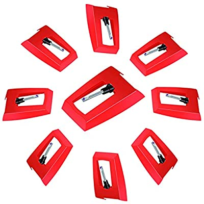 8 Pcs Record Player Needle Vinyl Turntable Diamond Replacement Stylus Needles, for Vintage Turntable LP Phonograph & Vinyl Record Player Philips, Auna, Crosley, Ion, Jensen