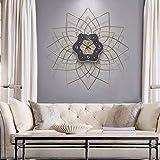 WANGXINQUAN Reloj colgante para sala de estar, reloj de cuarzo, 70 x 70 cm, arte silencioso