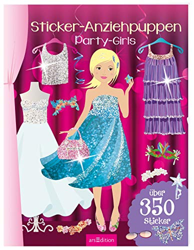 Sticker-Anziehpuppen - Party-Girls