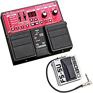 Boss RC-30 Dual Loop Station Pedal + FS-5U Fußtaster Momentary Switch + keepdrum Patchkabel 30cm
