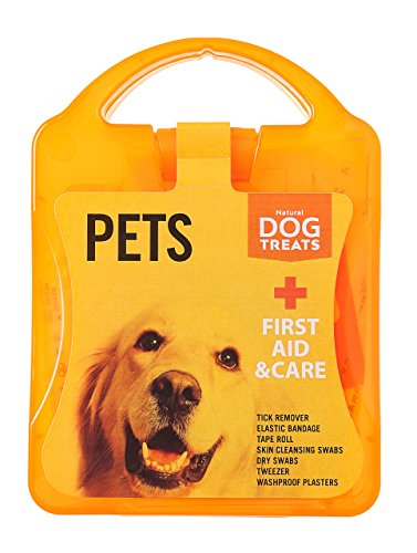 Natural Dog Treats Premium Erste-Hilfe-Set für Hunde, Haustiere - Zeckenentferner, Bandagen, Tücher