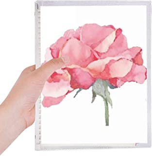 Watercolor Carnation Flowers Plant Notebook Loose Leaf Diary Refillable Journal Stationery