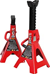 Lightweight jack stands are used to support your vehicle after lifting with a jack; Wide pyramid foot base provides added strength and stable support Constructed of high-grade forged steel with a welded frame design for durability, it handles a wide ...