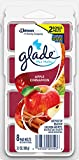 Glade Wax Melts Air Freshener, Scented Candles with Essential Oils for Home and Bathroom, Apple Cinnamon, 8 Count