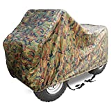 X AUTOHAUX XXXL Camo 101 Inch ATV Quad Covers Waterproof Outdoor Oxford Cloth Durable 4 Wheeler Rain Cover Accessories All Weather UV Protection for Kawasaki for Polaris for Suzuki for Can Am