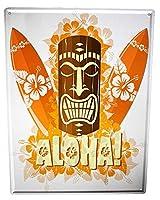 アメリカン 看板 ワールドツアーハワイアロハ イラストブリキ 看板壁の装飾金属30x40cm