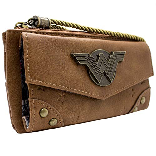 Cartera de DC Wonder Woman Mochila comica Marrón